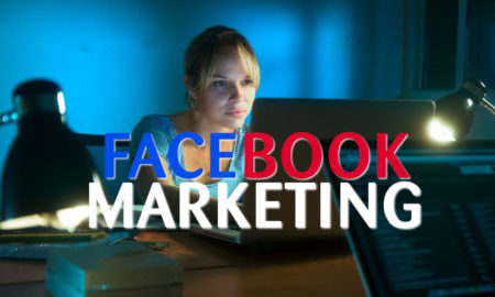 facebook marketing Woman+Writing+On+Laptop+Computer+Late+At+Night
